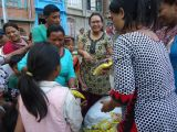 Relief materials distribution by Kumbeshwor CLC