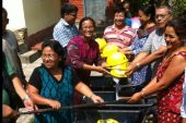 Distribution of equipments for debris clearance through Lakash Nepal