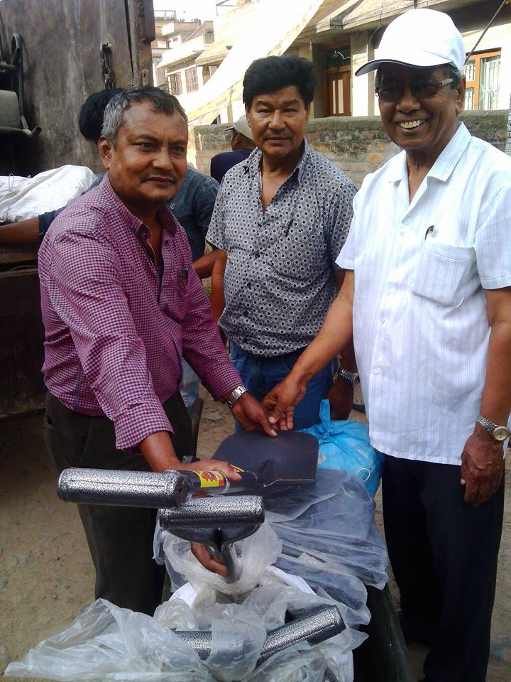 Earthquake Relief Aid handover to Siddhipur CLC